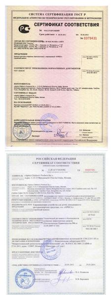 официальные сертификаты соответствия Лонекс
